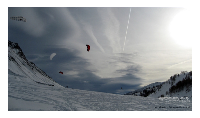 kite skiing in the maritime alps