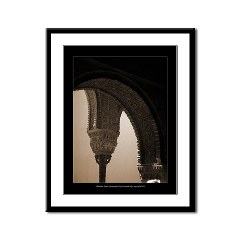 Alhambra Cstle, Granada, Andalusia, Spain: Sepia toned photograph of moorish architecture